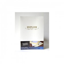 Teczka ozdobna  Millenium diamentowa biel  z napisem DYPLOM