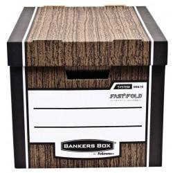 Pudło archiwizacyjne Woodgrain - brązowe (10 szt)
